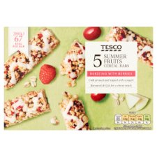 Tesco Summer Fruits Cereal Bars 5 X 19G