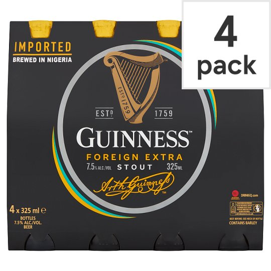 Guinness Nigerian Foreign Extra Stout 4X325ml