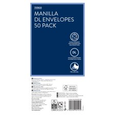 Tesco Manilla Envelopes Dl 50 Pack