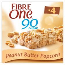 Fibre One Peanut Butter Popcorn Bars 4X21g