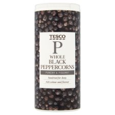 Tesco Whole Black Peppercorns 100G