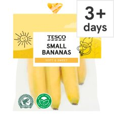 image 1 of Tesco Small Bananas 6 Pack