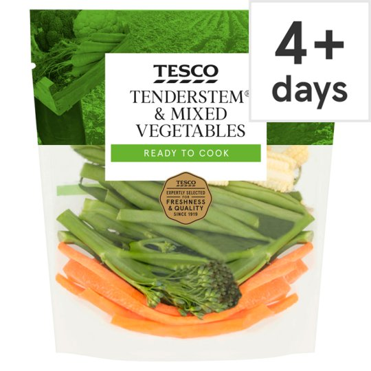 image 1 of Tesco Tenderstem And Mixed Vegetables 160G
