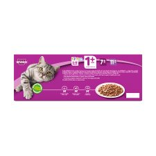 image 3 of Whiskas 1+ Cat Food Pouches Poultry in Jelly 40x100g