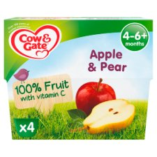 image 1 of Cow & Gate Apple And Pear Fruit Pot 4X100g 4 Mth+