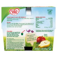 Cow & Gate Apple And Pear Fruit Pot 4X100g 4 Mth+