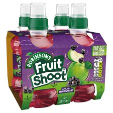 Robinsons Fruit Shoots Blackcurrant And Apple No Added Sugar 4X200ml