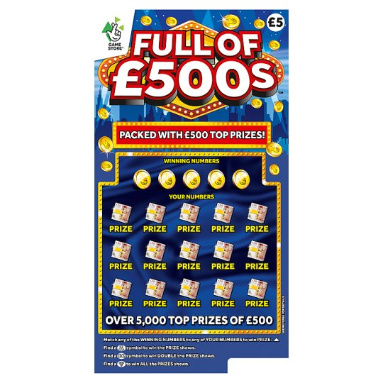 Full Of £500S Scratchcard