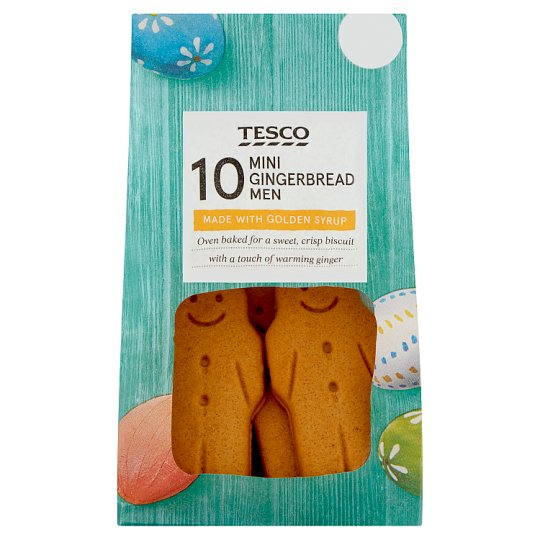 Tesco 10 Mini Gingerbread Men