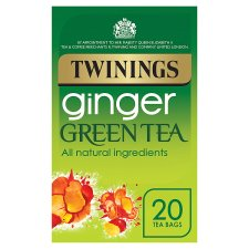 Twinings Green Tea Ginger 20 Tea Bags 40G