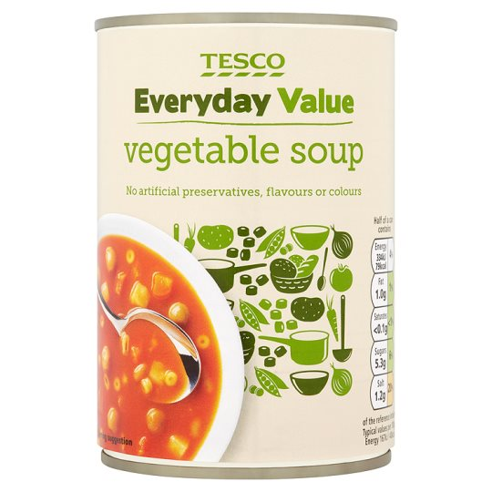 Tesco Everyday Value Vegetable Soup 400G
