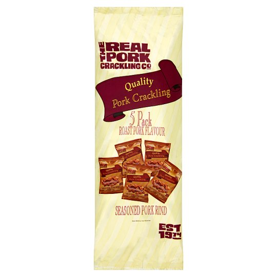 The Real Pork Crackling Co 5X15g