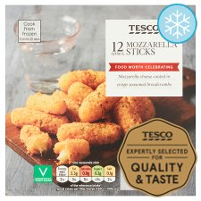 Tesco 12 Mozzarella Sticks 180G