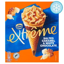 Extreme Salted Caramel White Chocolate Ice Cream Cone 4X120ml