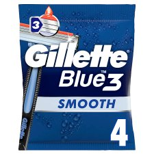 Gillette Blue 3 Disposable Razors 4 Pack