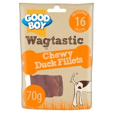 Wagtastic Chewy Duck Fillets Dog Chew Treats 70G