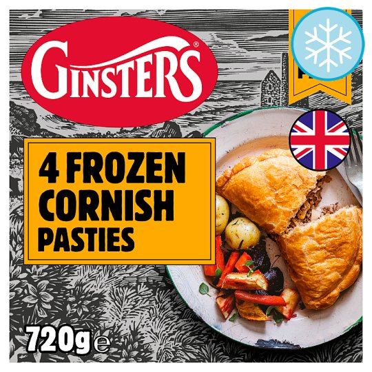 Ginsters Cornish Pasty 4 Pack 720G