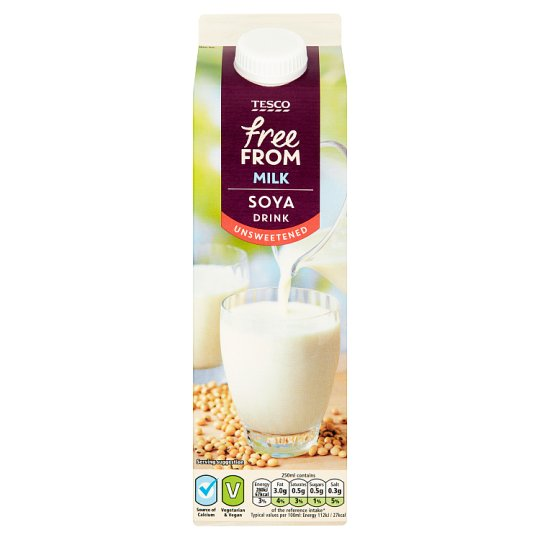 Tesco Free From Fresh Unsweetened Soya Milk 1 Litre