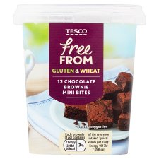 Tesco Free From 12 Chocolate Mini Brownies Bites