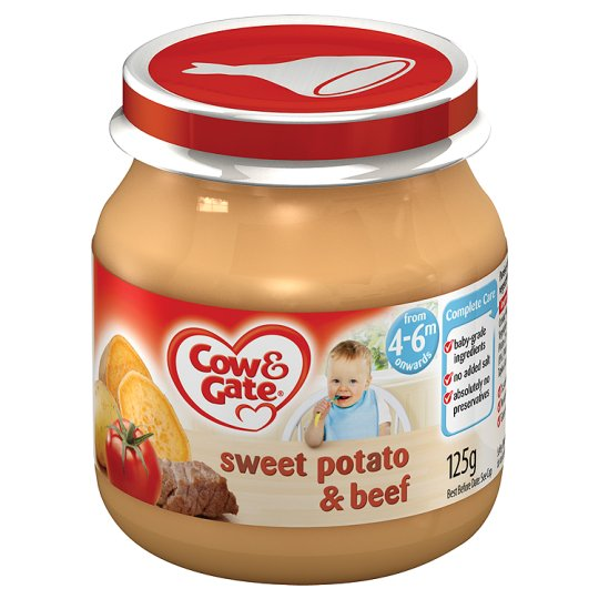 Cow And Gate Sweet Potato And Beef Jar 125G 4 Mth+