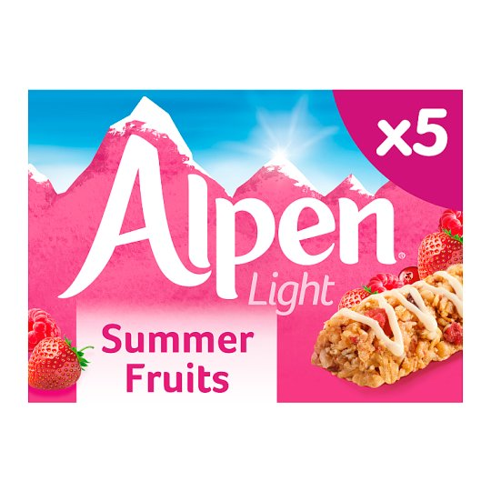Alpen Light Summer Fruits Bars 5 Pack 95G