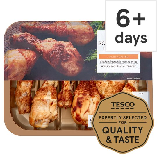 Tesco Ready To Eat Roast British Chicken Drumsticks 430G