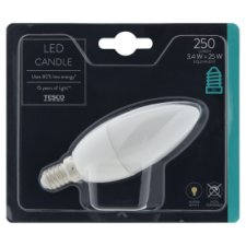 image 1 of Tesco Led Candle 25W Small Edisonscrew