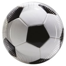 Tesco Football Plate 8Pk