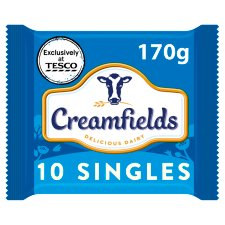 Creamfields 10 Cheesy Slices 170G