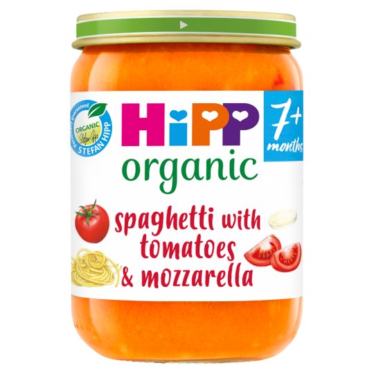 Hipp 7 Month Organic Spaghetti With Tomatoes Mozzarella 190G