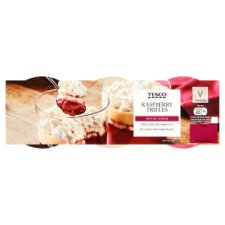 Tesco Raspberry Trifle Dessert 3 X145g