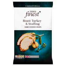 Tesco Finest Turkey And Stuffing Crisps 150G