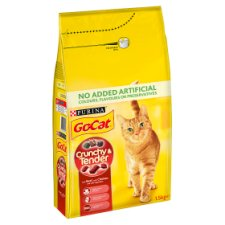 Go Cat Crunchy And Tender Beef And Chicken 1.5Kg