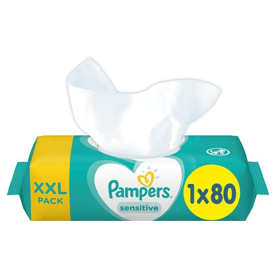 image 1 of Pampers Sensitive Baby Wipes 80Pack