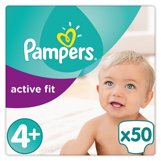 Pampers Active Fit Size 4+ Large Pack 50 Nappies