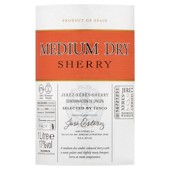 Tesco Medium Dry Sherry 1L