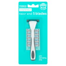 Tesco Essentials Triple Blade Razor With 5 Blades