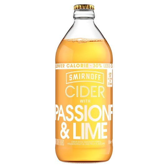 image 1 of Smirnoff Passion Fruit And Lime Cider 500Ml Bottle