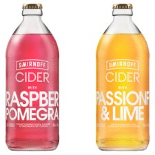 image 3 of Smirnoff Passion Fruit And Lime Cider 500Ml Bottle