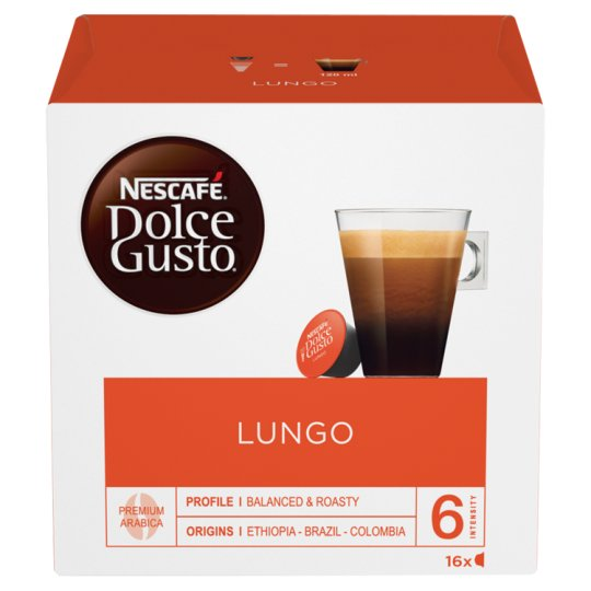 nescafe dolce gusto lungo coffee pods 16 capsules. Black Bedroom Furniture Sets. Home Design Ideas