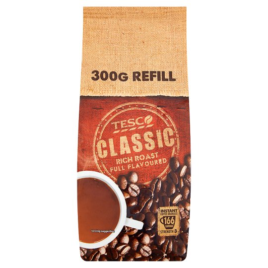 Tesco Classic Instant Coffee Refill 300G