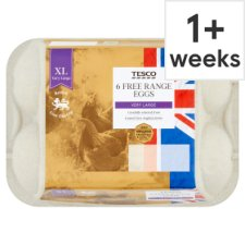 Tesco East Anglian Free Range Eggs Very Large 6 Pack