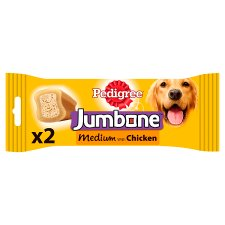 image 1 of Pedigree Jumbone Medium Chicken Dog Bone 2 Chews, 200G