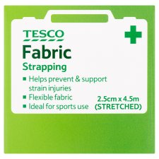 Tesco Stretch Fabric Strapping 2.5Cm X 4.5M