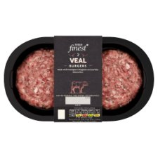 Tesco Finest Veal Burger Herb And Parmesan 284G