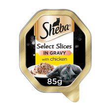 Sheba Gravy With Chicken Cat Food Tray 85G