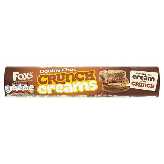 image 1 of Fox's Double Chocolate Crunch Creams Biscuits 230G