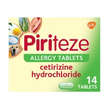 Piriteze Allergy Antihistamine Tablets 14S