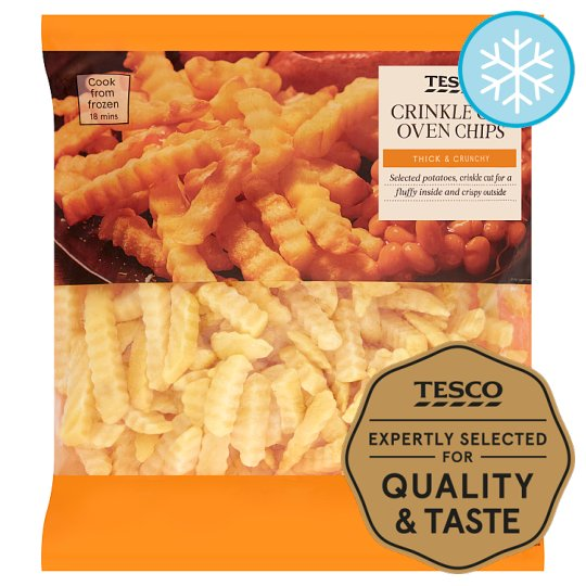 Tesco Crinkle Cut Oven Chips 1.5Kg