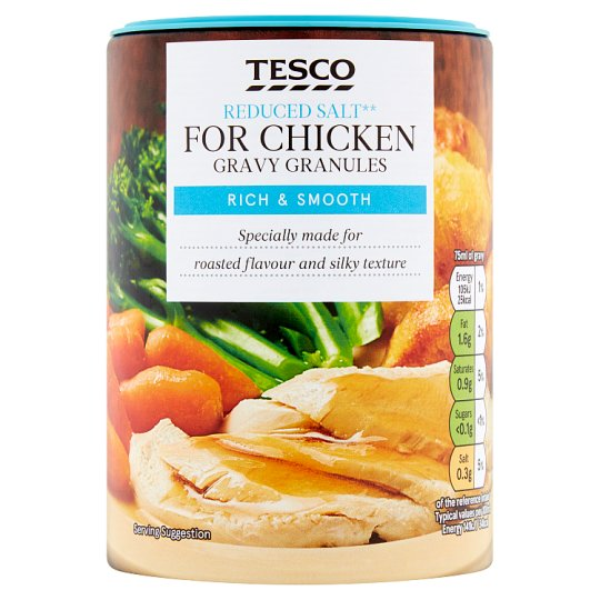 Tesco Gravy Granules Chicken Reduced Salt 200G